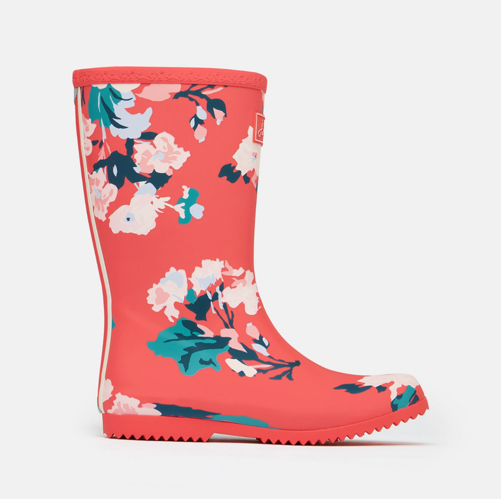 Joules: Red Floral Rainboots
