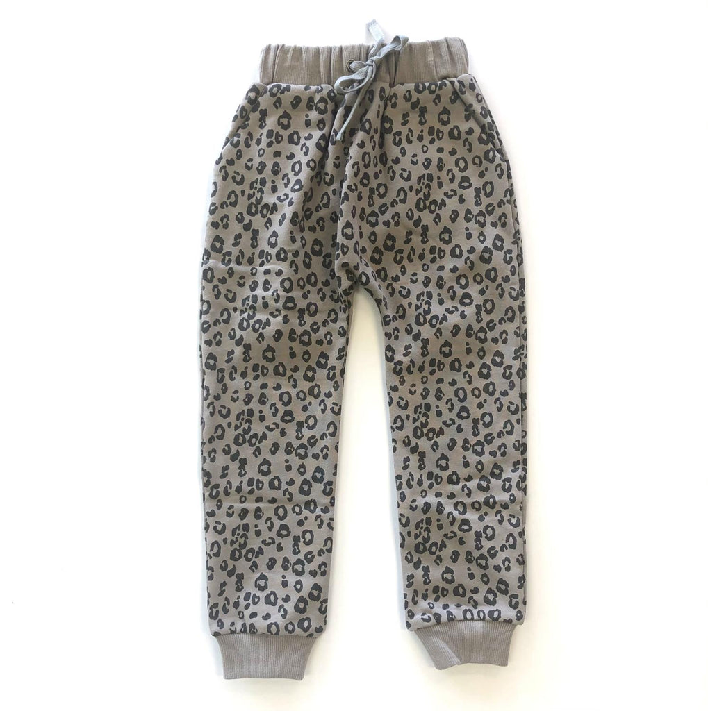 Siaomimi: Grey Leopard Sweats