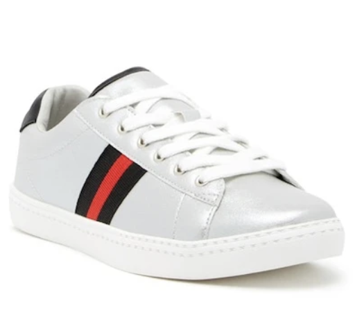 Silver Side Stripe Sneakers