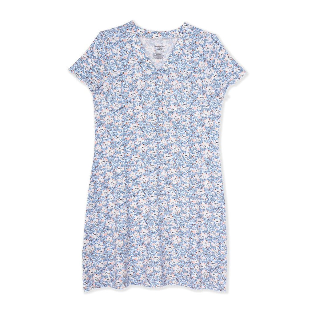 Somebunny Floral Modal Magnetic Nursing Nightgown