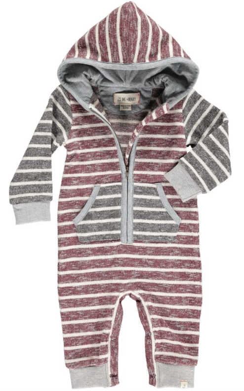 Stripe Hooded Romper