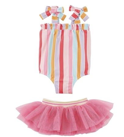 Stripe Swimsuit With Tutu