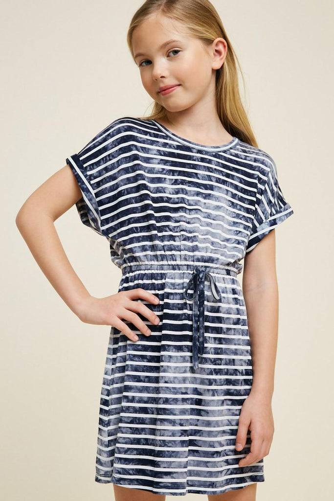 Stripe Tie-Dye Dress