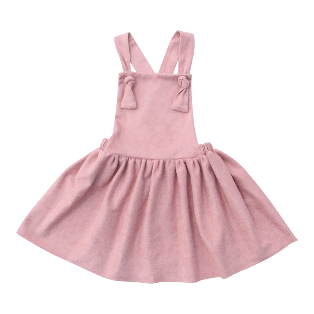 Suede Pinafore Overalls