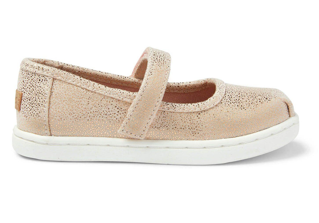TOMS: Rose Gold Drop Mary Janes