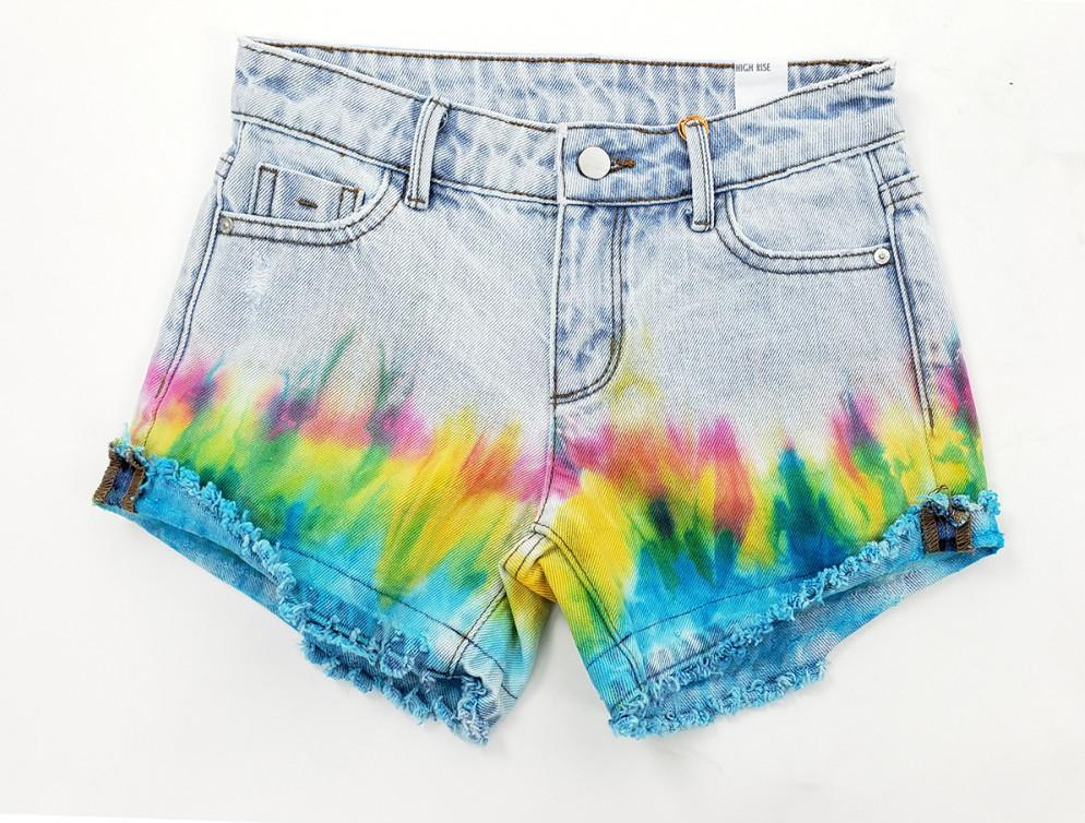 Tie Dye High Waist Shorts