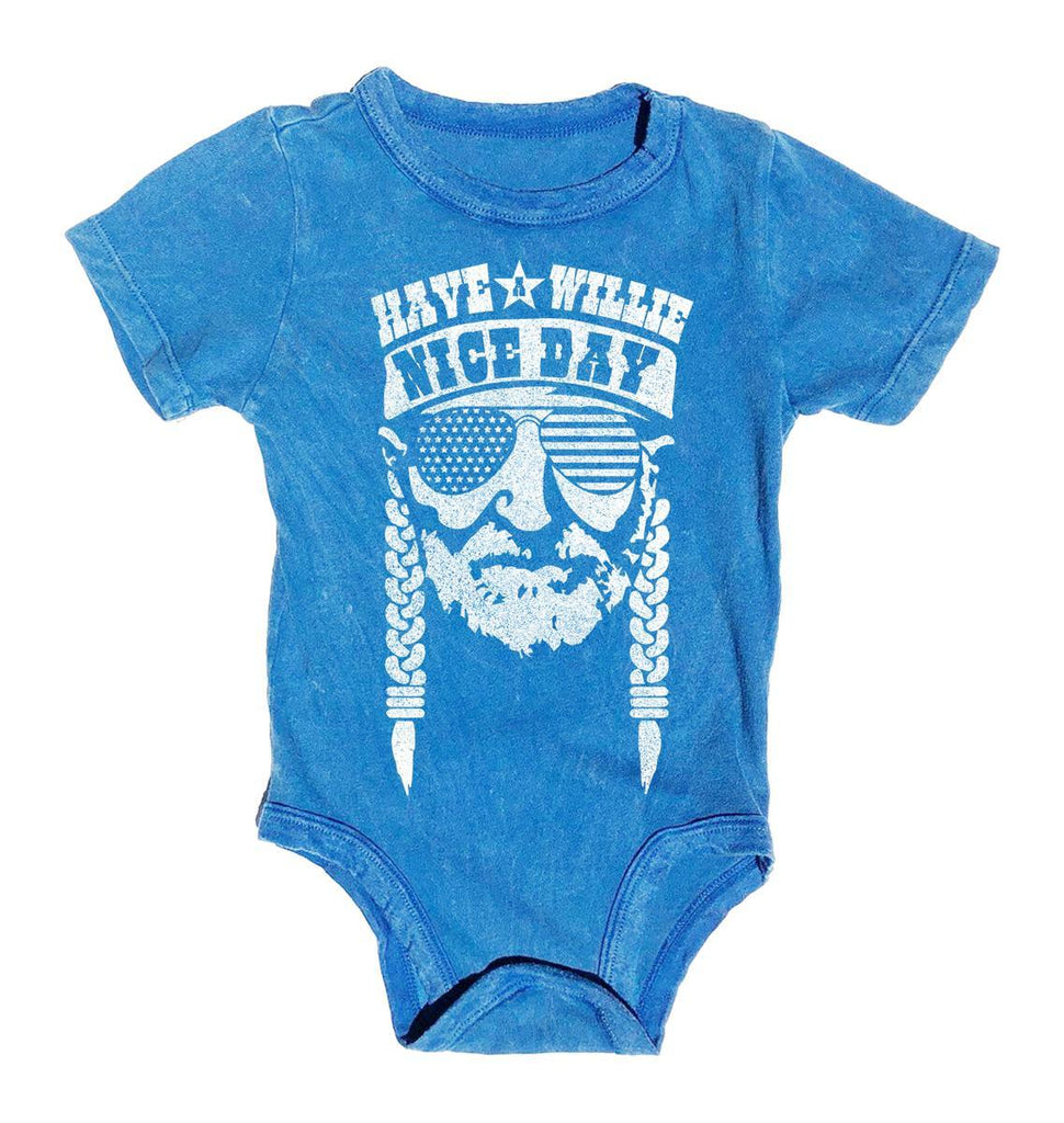 Willie Nelson Graphic Onesie
