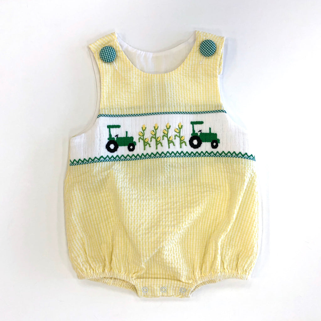 Tractor Smocked Overalls