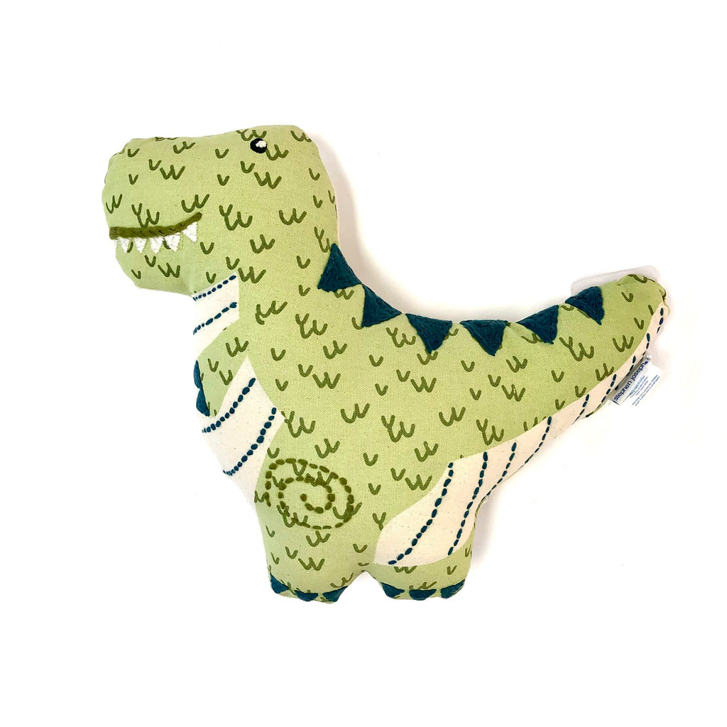 Dinosaur Embroidered Pillow