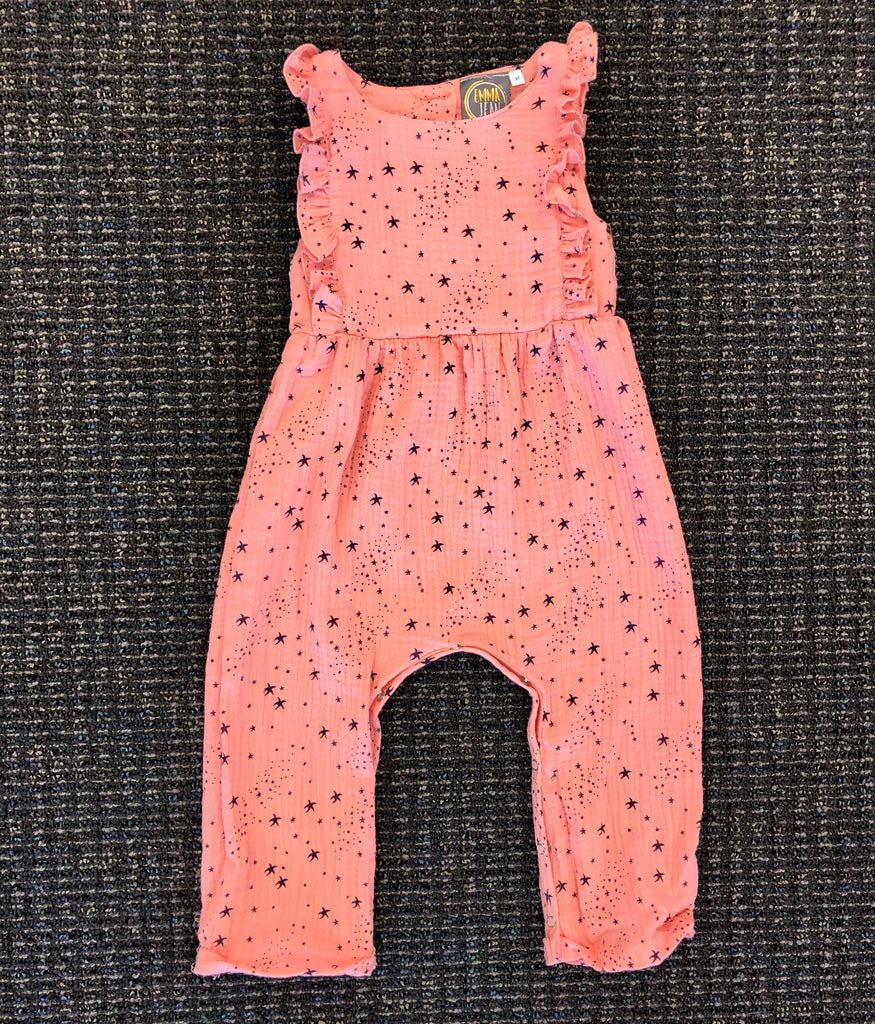 Star Bright Coral Romper