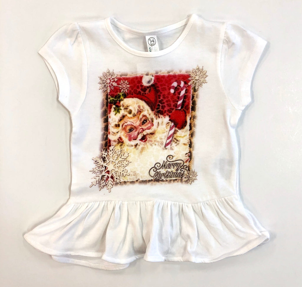 Youth Candy Cane Santa Tee