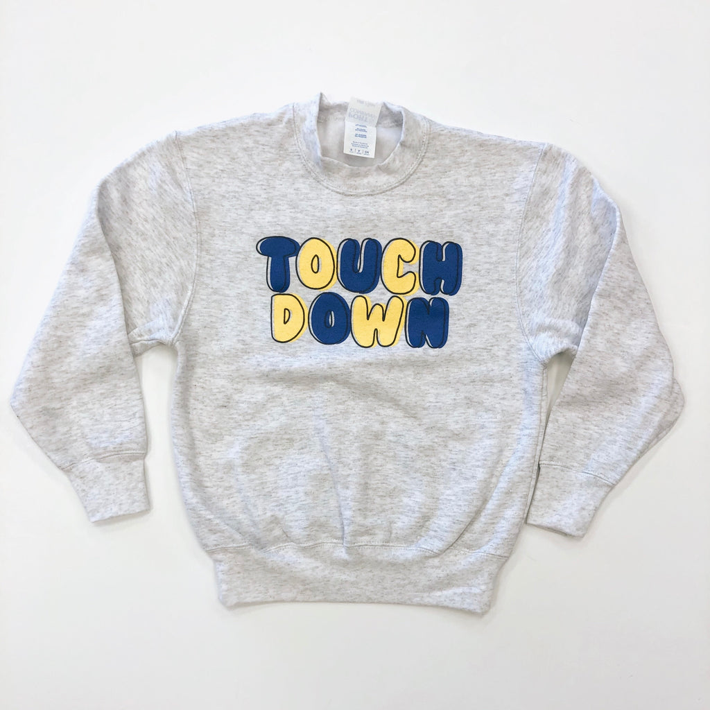 Blue & Yellow Touchdown Sweatshirt