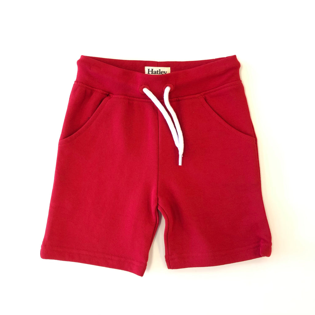 Red Terry Shorts