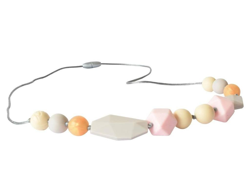 Petite Pink Wren Teething Necklace