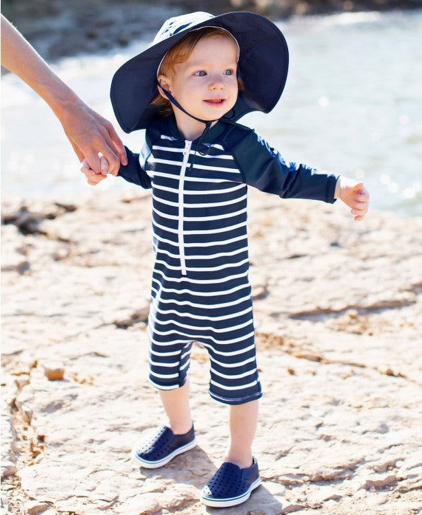 Navy Stripe One Piece