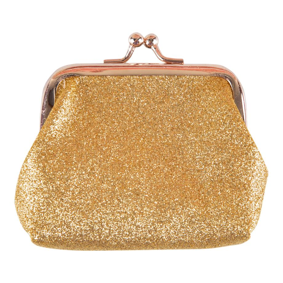 Gold Glitter Coin Purse