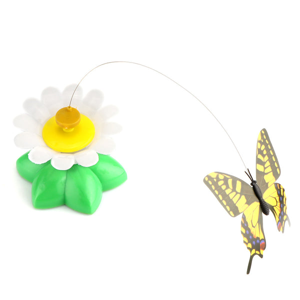 Interactive Rotating Butterfly Cat Toy