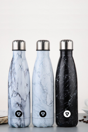 Stainless Steel Water Bottle - White Marble
