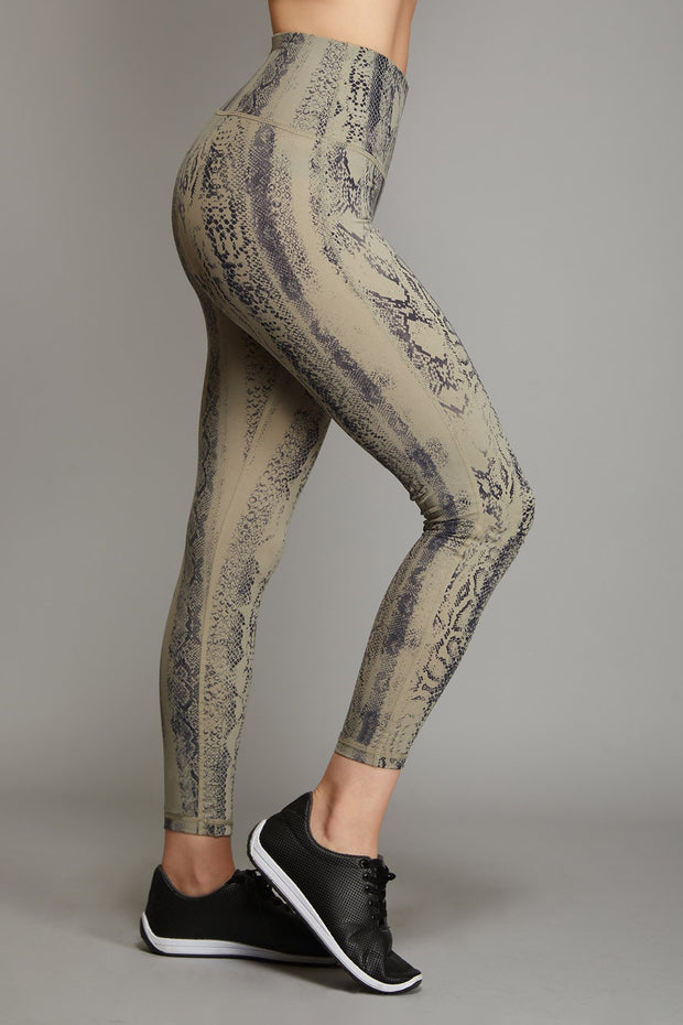 High Waisted Snake Legging