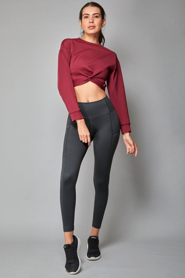 Crop Knot Sweatshirt