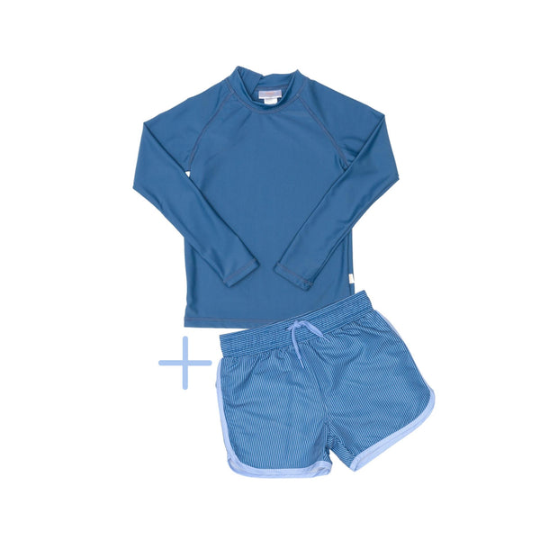 Blue Rashie and Blue Swim Shorts