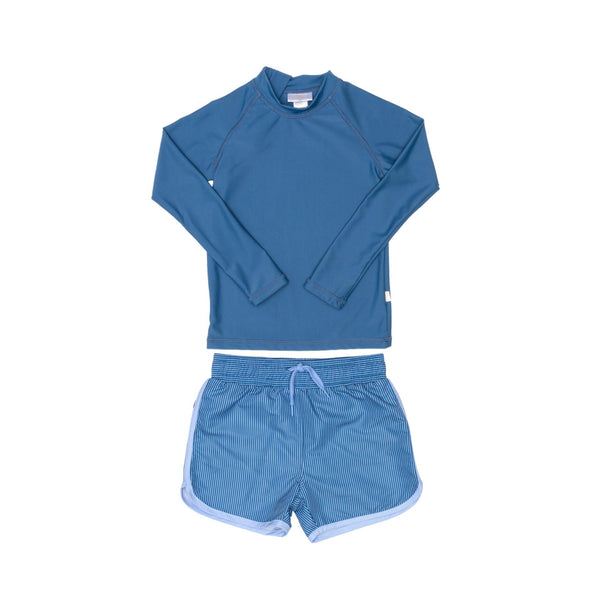 Blue Rashie Plus Blue Swim Shorts
