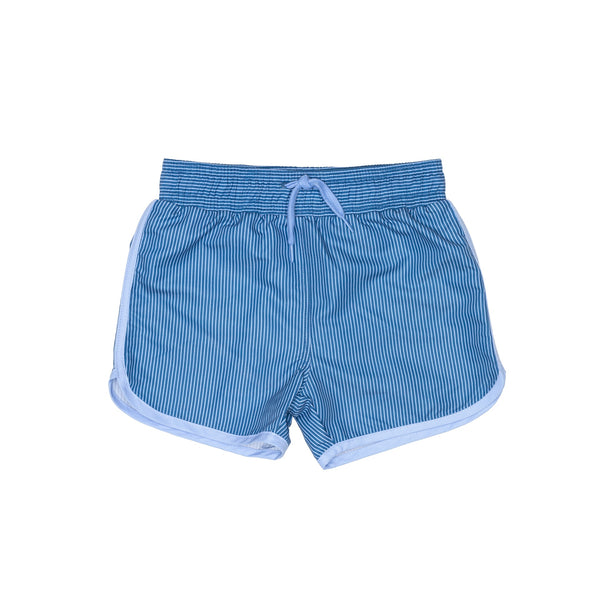 Blue striped Swim Shorts with drawstring