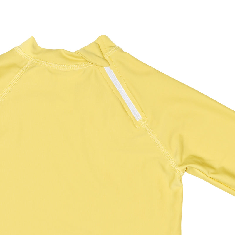 Citrus Yellow Rashguard with back zipper