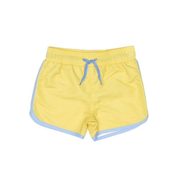 Citrus Yellow Swim Shorts With Drawstring