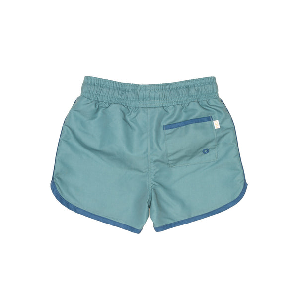 Fern Green Swim Shorts with Back Pocket