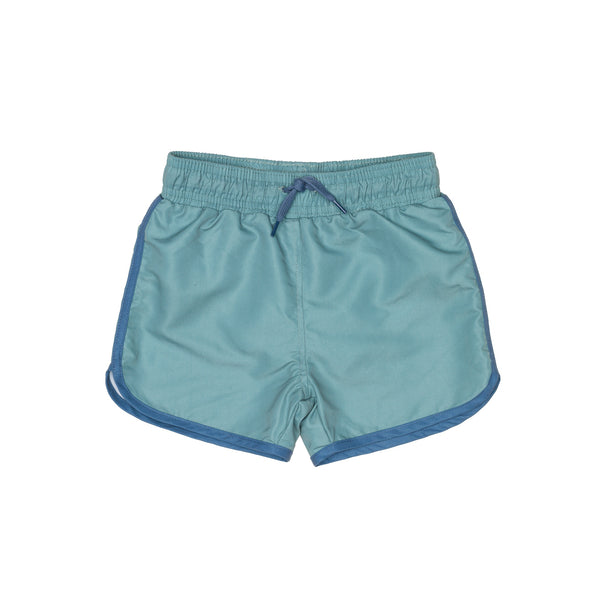 Green Swim Shorts with drawstring cord