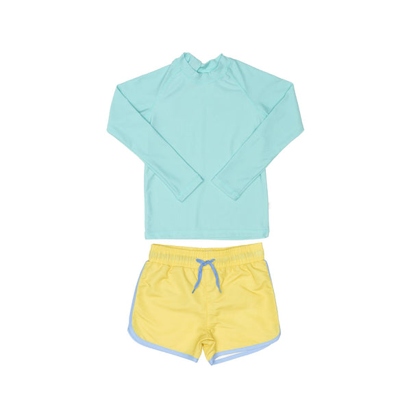 Green Rashie and Yellow Swim Short