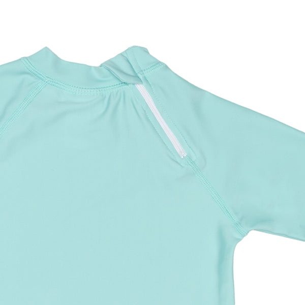 Seaside Green Rashguard With Back Zipper