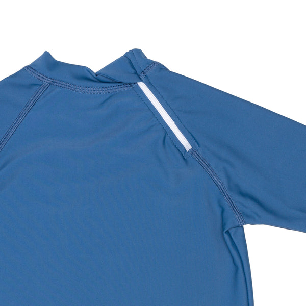 Ocean Blue Rashguard With Back Zipper