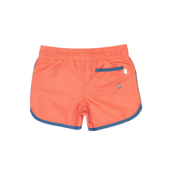 Red Swim Shorts Back with Back Pocket