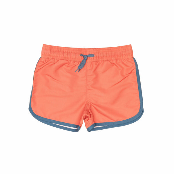 Red Swim Shorts with drawstring