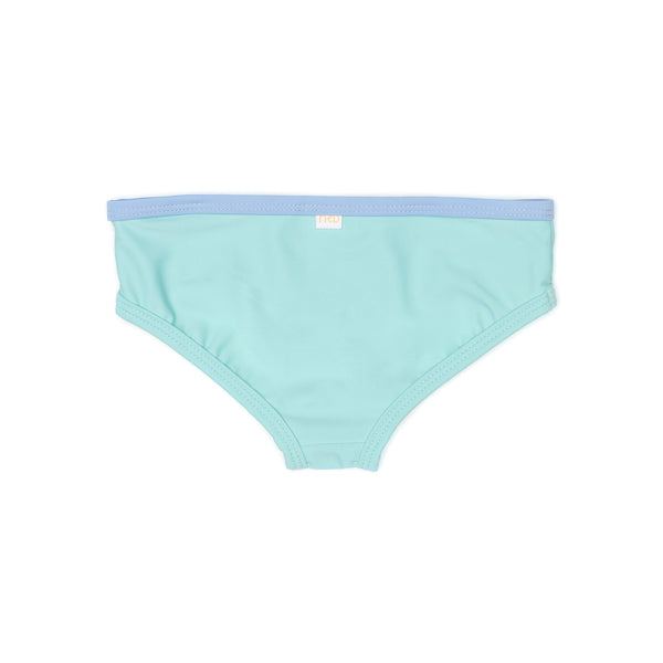 Seaside Green girl Swim brief backside
