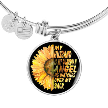 5ee78b15ef My Husband Is My Guardian Angel He Watches Over My Back Bracelet