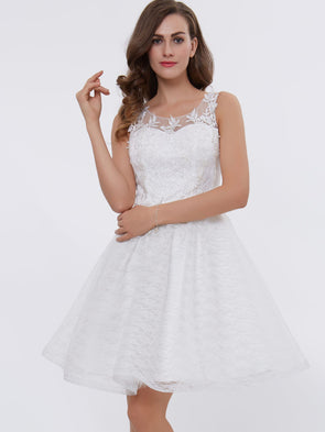 Dress Appliques A-Ligne Manches Col Rond Sweet 16