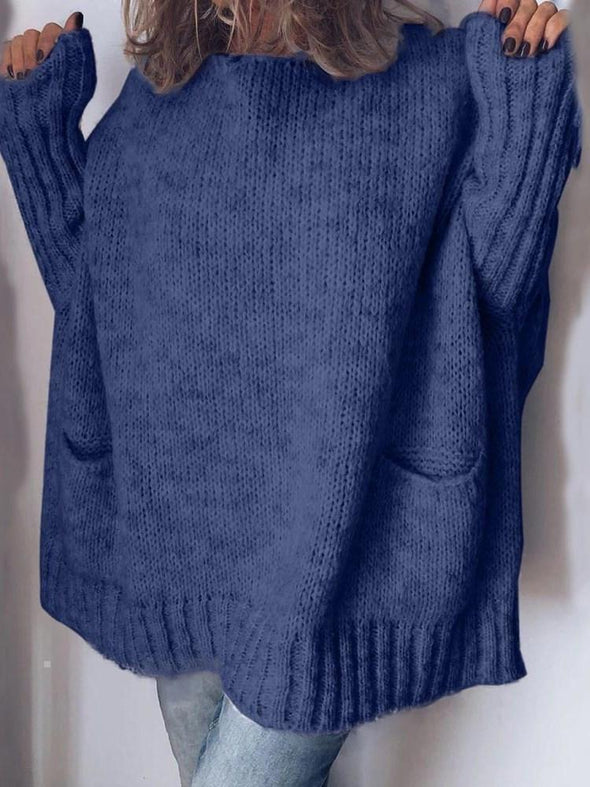 Pull Femme Standard Standard Col Rond Manches Longues
