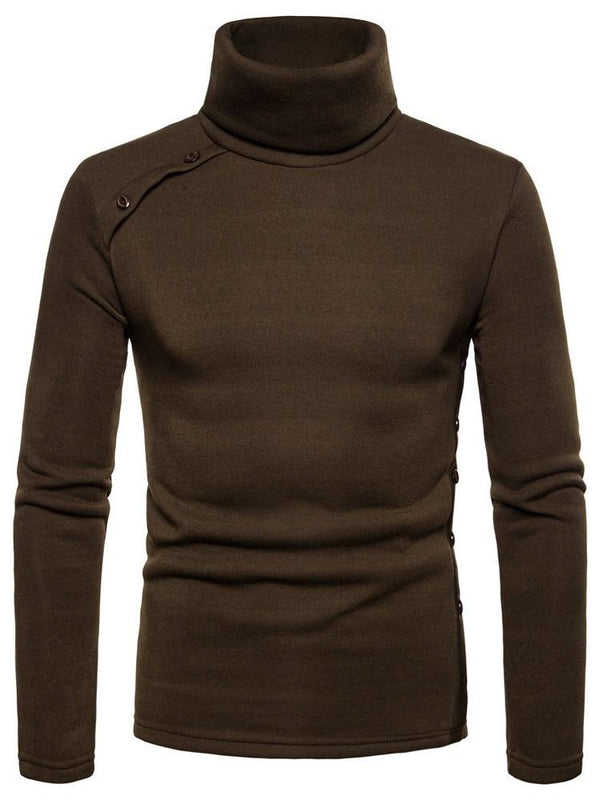 Sweat-shirt Homme Pull-Over Bouton Pure Pull Slim