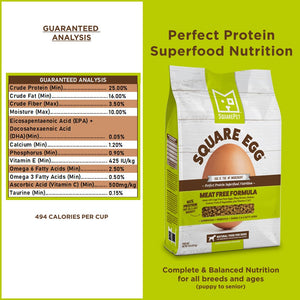 Square Egg vegetarian dog food guaranteed analysis