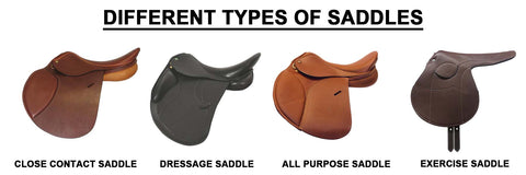 different types of english saddle