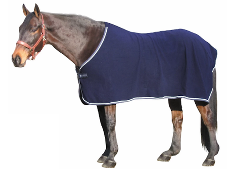 TuffRider® Fleece Dress Sheets are made from an anti-pill, heavy fleece that is breathable and moisture wicking keeping the horse warm and dry.