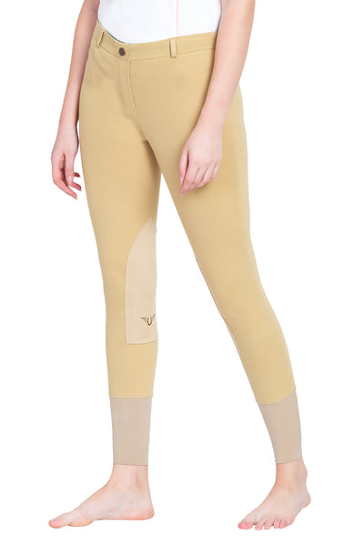 TuffRider Ladies Pull-On Knee Patch Breeches - TuffRider - Breeches.com