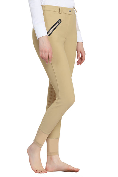 Tuffrider Tiffany Ribbed Breech With Silicone Full Seat - Breeches.com