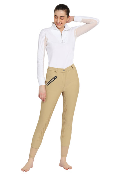 Tuffrider Tiffany Ribbed Breech With Silicone Full Seat - TuffRider - Breeches.com