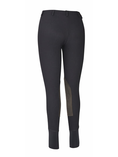 Ladies Ribb Lowrise Pull-On Knee Patch Breeches - TuffRider - Breeches.com