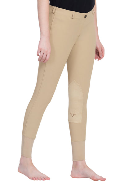 TuffRider Ladies Ribb Lowrise Pull-On Knee Patch Breeches_11