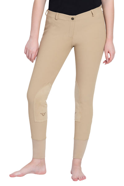 TuffRider Ladies Ribb Lowrise Pull-On Knee Patch Breeches_10